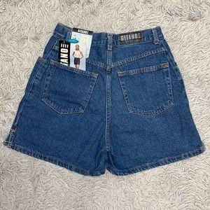 Vintage Gitano Mom Jean Denim Shorts 6 8 10 New
